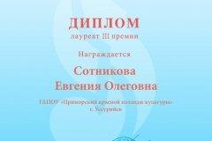Диплом Сотникова Евгения Олеговна (Министерство культуры)
